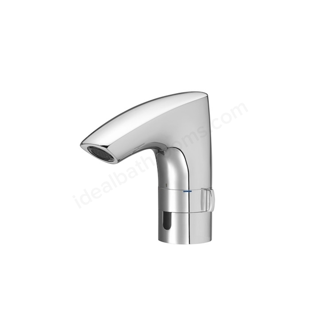 Roca M3-E Battery Electronic Basin Mixer Tap; Pop Up Waste; 1 Tap Hole; Chrome