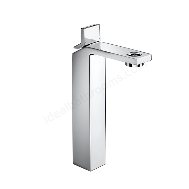 Roca SINGLES PRO Extended Basin Mixer Tap, No Waste, 1 Tap Hole, Chrome