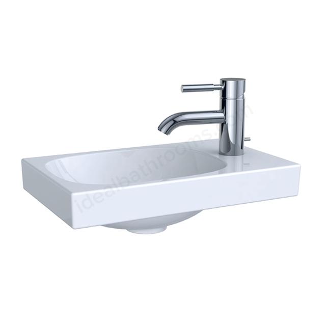 Geberit Acanto 400mm x 250mm 1TH Handrinse Basin