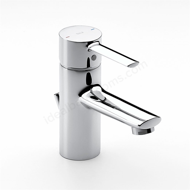 Roca TARGA Basin Mixer Tap, Pop Up Waste, 1 Tap Hole, Chrome