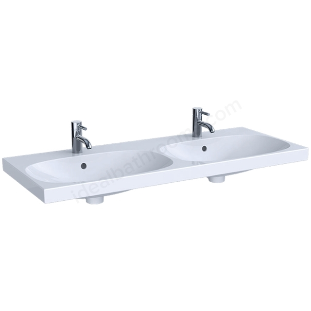 Geberit Acanto 1200mm 2TH Double Washbasin