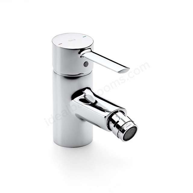 Roca TARGA Bidet Mixer Tap, No Waste, 1 Tap Hole, Chrome