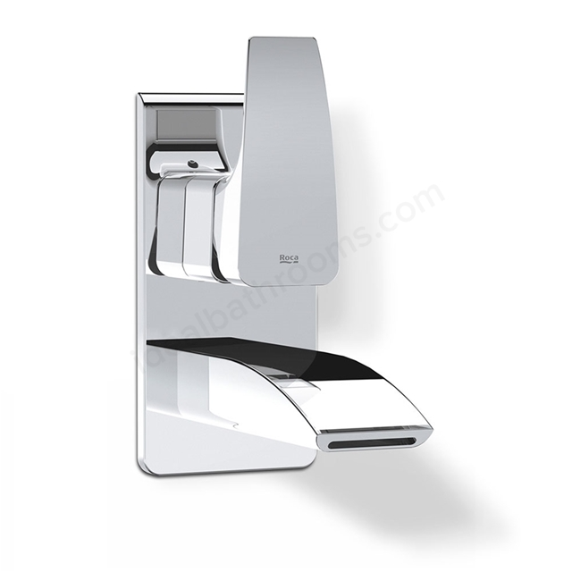 Roca THESIS Wall Mounted Concealed Basin Mixer Tap, No Waste, Chrome