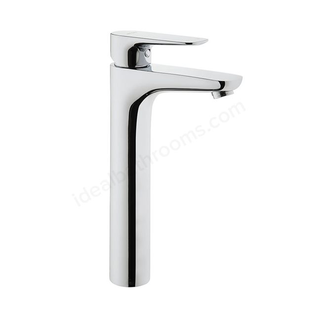 Vitra X-LINE Tall Basin Mixer Tap, no Waste, 1 Tap Hole, Chrome