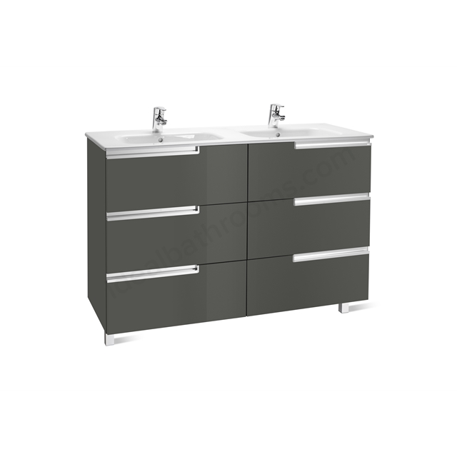 Roca VICTORIA N Base Unit; Left Handed; 600mm Wide; 3D Grey