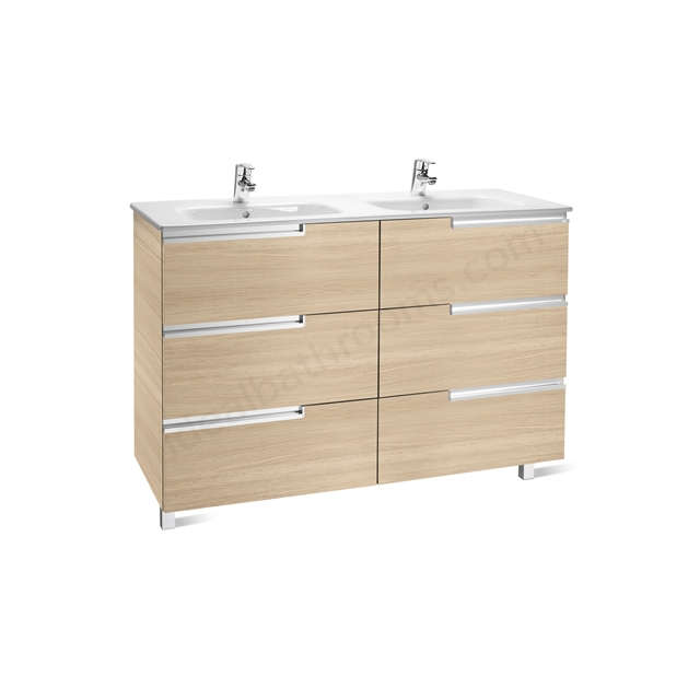 Roca VICTORIA N Base Unit; Right Handed; 600mm Wide; 3D Oak