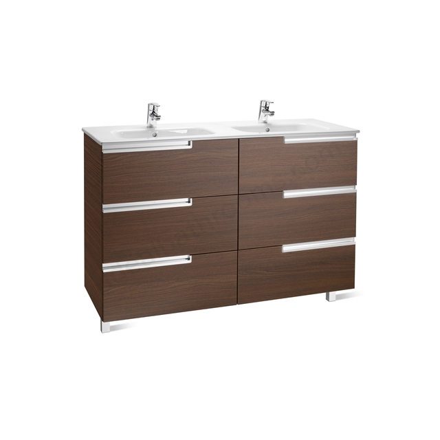 Roca VICTORIA N Base Unit; Right Handed; 600mm Wide; 3D Wenge