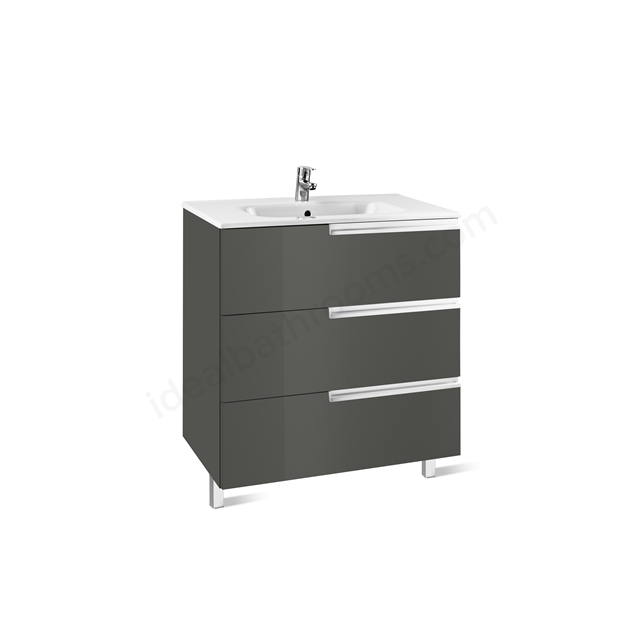 Roca VICTORIA N Base Unit; 700mm Wide; 3D Grey