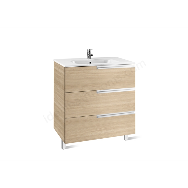 Roca VICTORIA N Base Unit; 700mm Wide; 3D Oak