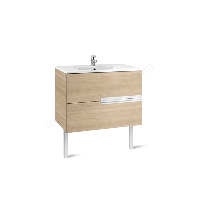 Roca VICTORIA N Base Unit; 800mm Wide; 2D Oak