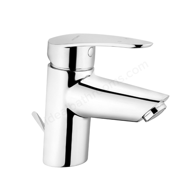 Vitra DYNAMIC Basin Mixer Tap, with Pop Up Waste, 1 Tap Hole, Chrome
