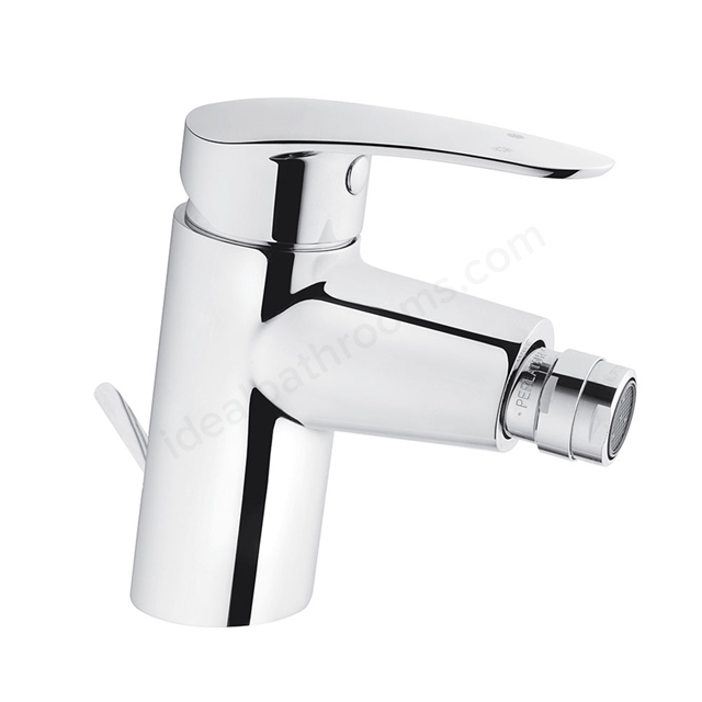 Vitra DYNAMIC Bidet Mixer Tap, with Pop Up Waste, 1 Tap Hole, Chrome