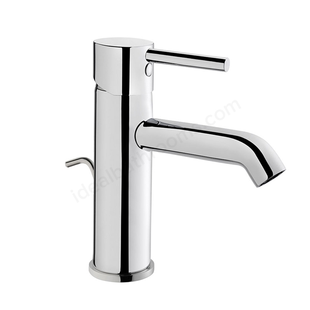 Vitra MINIMAX Basin Mixer Tap, with Pop Up Waste, 1 Tap Hole, Chrome