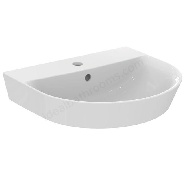 Ideal Standard Concept Air Arc 50Cm Pedestal Basin - One Taphole