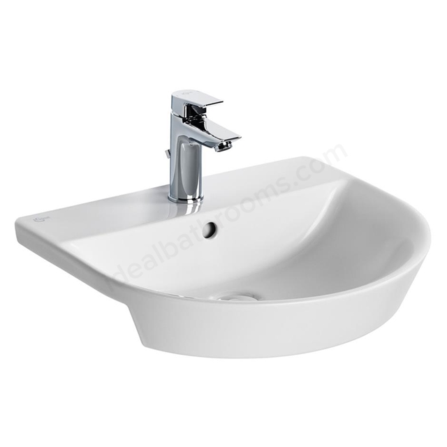 Ideal Standard Concept Air Arc 50Cm Semi-Countertop Washbasin - One Taphole