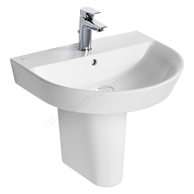 Ideal Standard Concept Air 550mm Semi Recessed Basin 1 Tap Hole