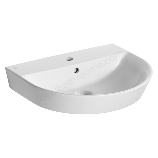 Ideal Standard Concept Air 600mm Semi Recessed Basin 1 Tap Hole