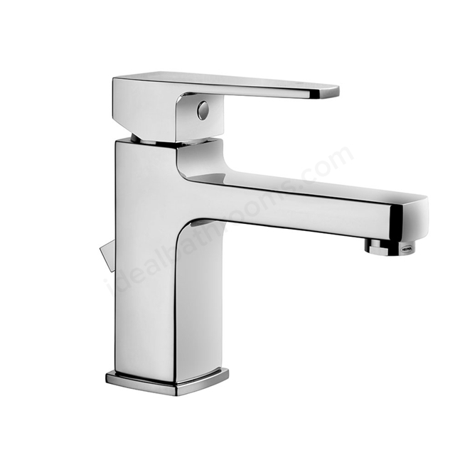 Vitra Q-LINE Basin Mixer Tap, with Pop Up Waste, 1 Tap Hole, Chrome