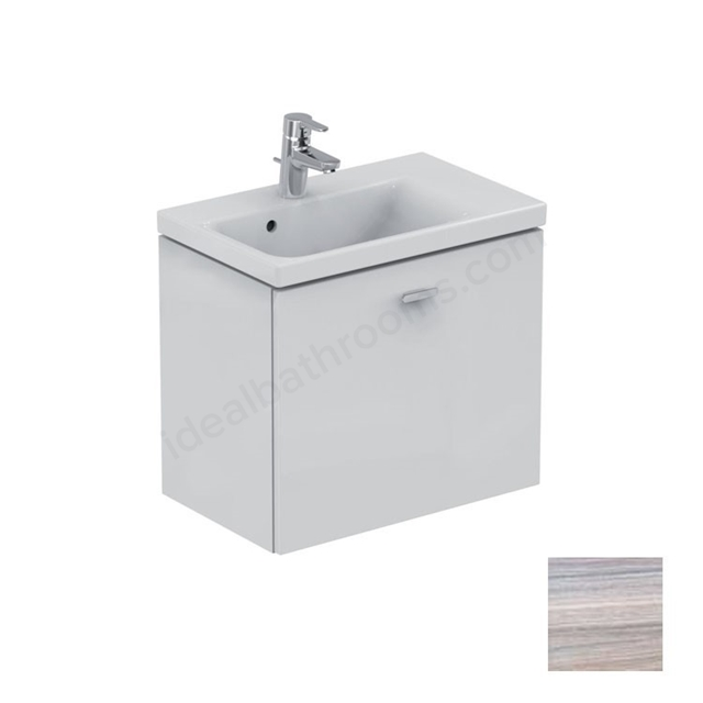 Ideal Standard CONCEPT SPACE; Wall Hung Basin Unit; 600x380mm; Right Handed; 1 Drawer; Elm