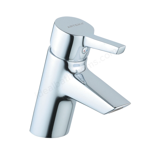 Vitra SLOPE Basin Mixer Tap, no Waste, 1 Tap Hole, Chrome
