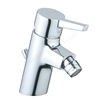 Vitra SLOPE Bidet Mixer Tap, with Pop Up Waste, 1 Tap Hole, Chrome