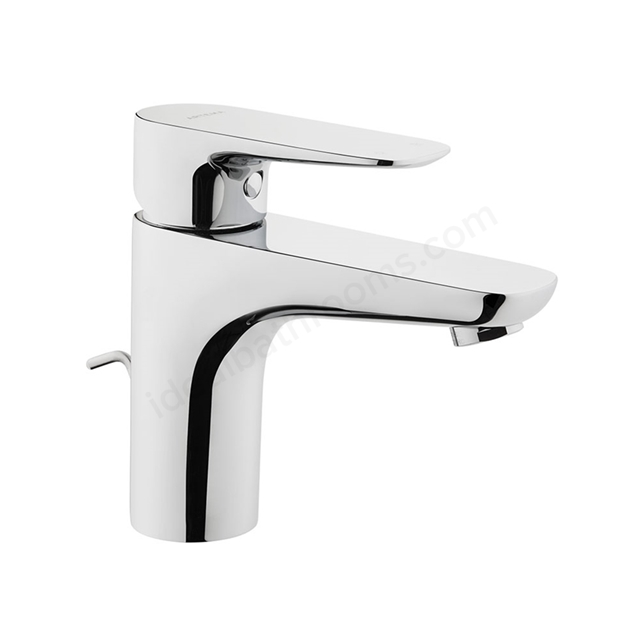 Vitra X-LINE Basin Mixer Tap, with Pop Up Waste, 1 Tap Hole, Chrome