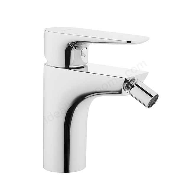 Vitra X-LINE Bidet Mixer Tap, with Pop Up Waste, 1 Tap Hole, Chrome