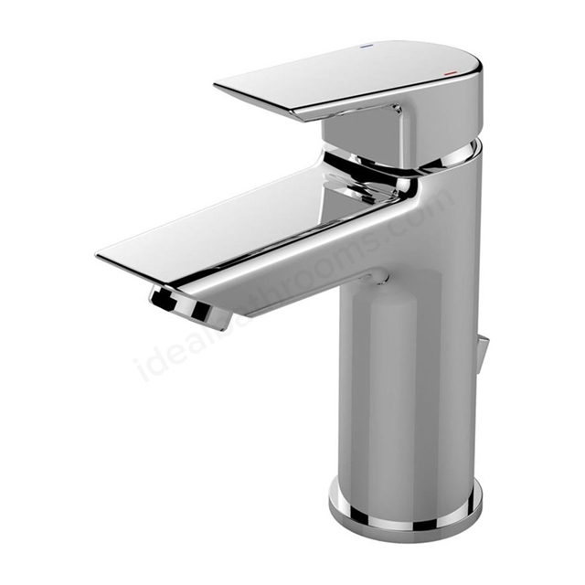 Ideal Standard TESI Basin Mixer Tap, with Pop Up Waste, 1 Tap Hole, Chrome