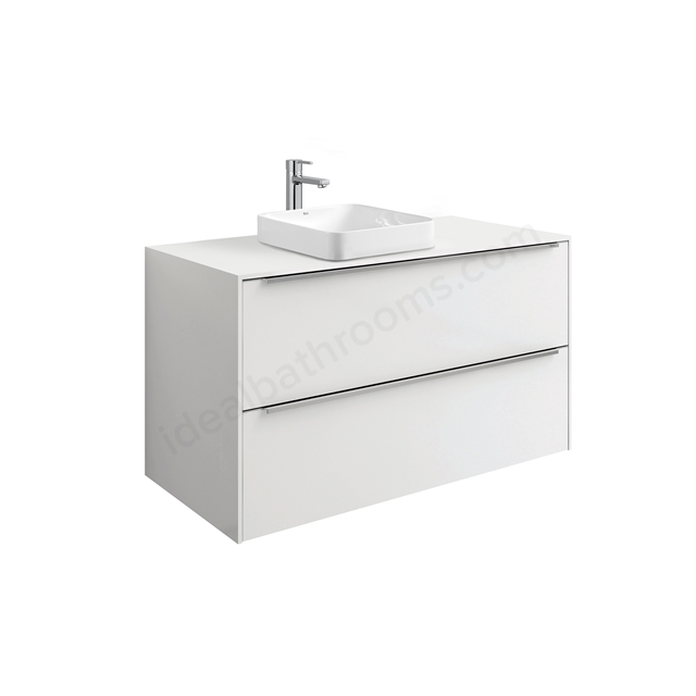 Roca INSPIRA Worktop For Square In-Worktop Basins; 1000mm Wide; Gloss White