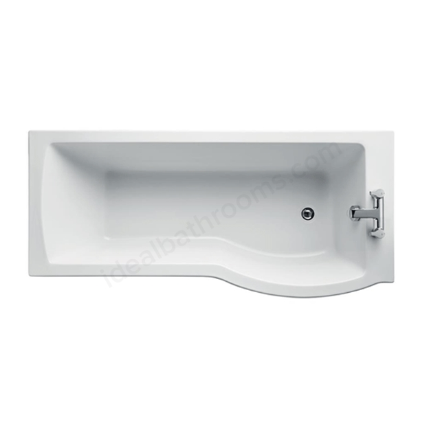 Ideal Standard TEMPO ARC 170 SHR BATH RH NTH I            FP+ WHITE