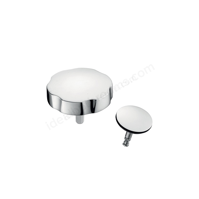 Ideal Standard Bath Pop-Up Handle & Waste Cover, Chrome