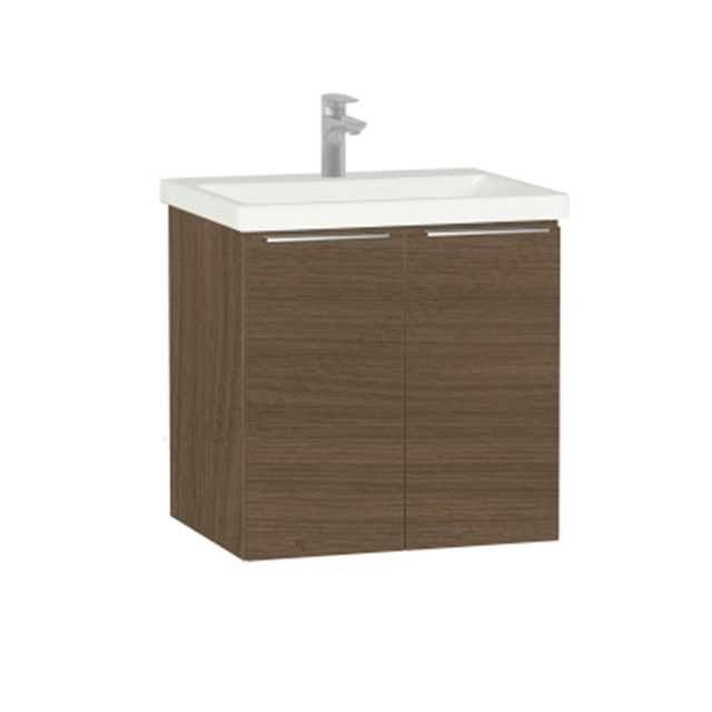 Vitra Ecora Washbasin Unit - Oak; with Door; Including Basin; 60 cm