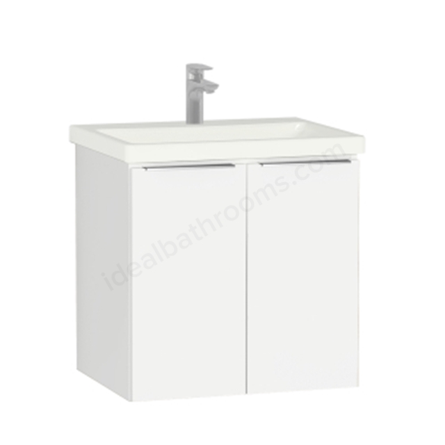 Vitra Ecora Washbasin Unit - White; with Door; Including Basin; 60 cm