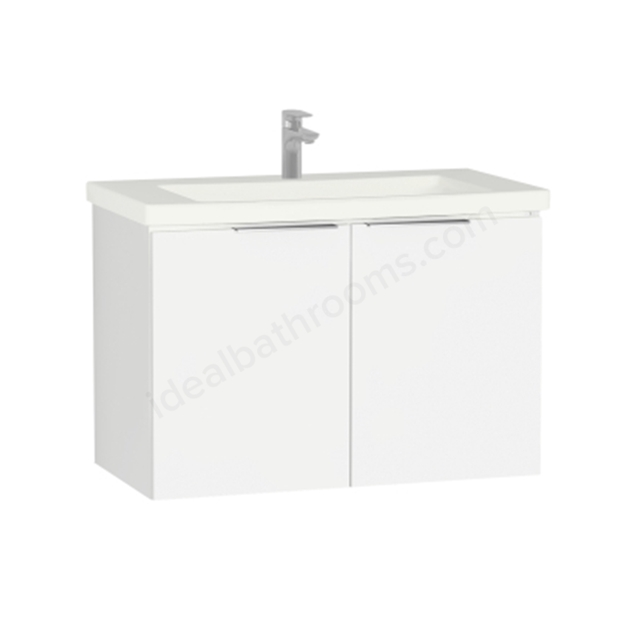 Vitra Ecora Washbasin Unit - White; with Door; Including Basin; 90 cm