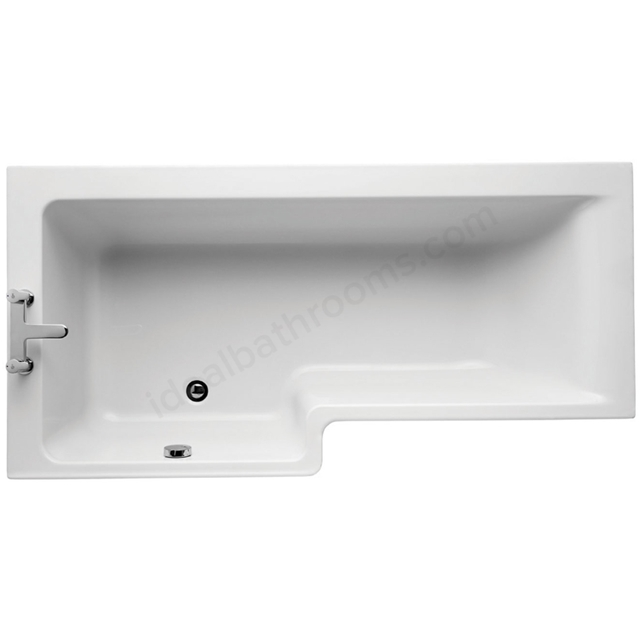 Ideal Standard White Square; Concept; 170cm Idealform+ Shower Bath; Left Hand