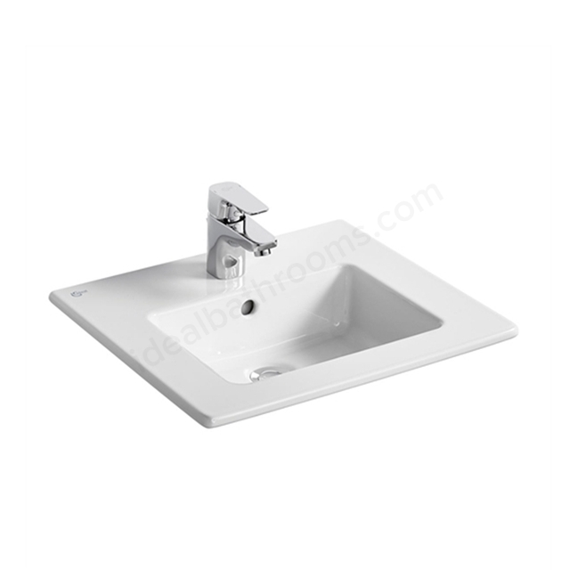 Ideal Standard Tempo 500mm Vanity Basin; White; 1 Taphole