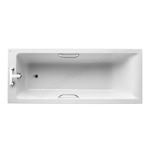 Ideal Standard White Idealform Plus+; No Tap Hole Bath; Concept; 170cm; with Hand Grips