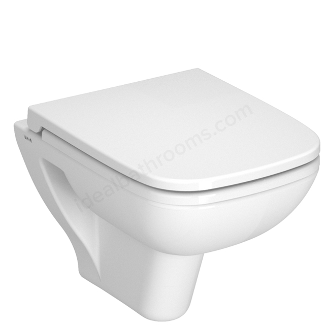 Vitra S20 Wall Hung Pan & Soft-close Seat with White Cover