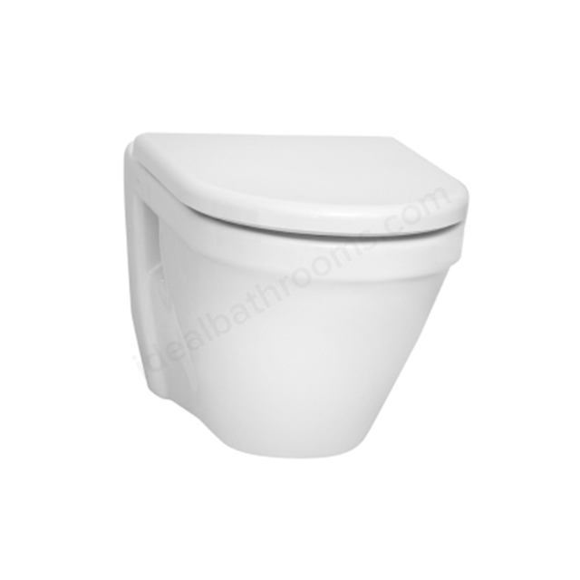Vitra S50 Wall Hung Pan & Soft-close Seat with White Cover
