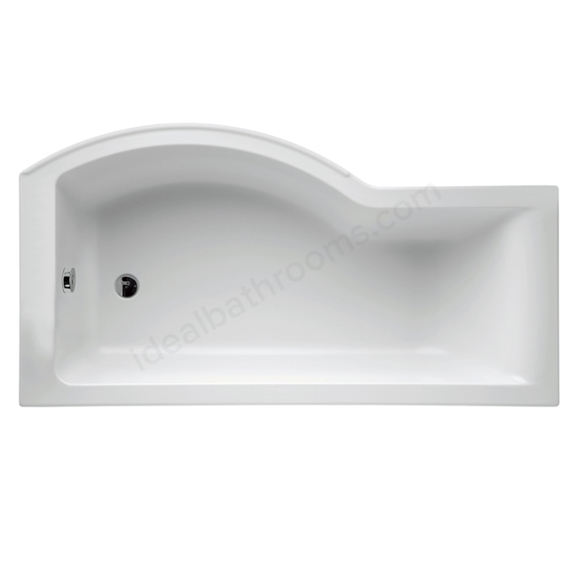 Ideal Standard White; No Tap Hole; Concept; 170cm x 90cm; Idealform+ Shower Bath; Left Hand