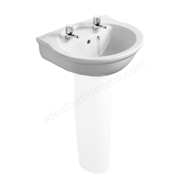 Ideal Standard ALTO Washbasin Basin; 2 Tap Hole; 550mm; White