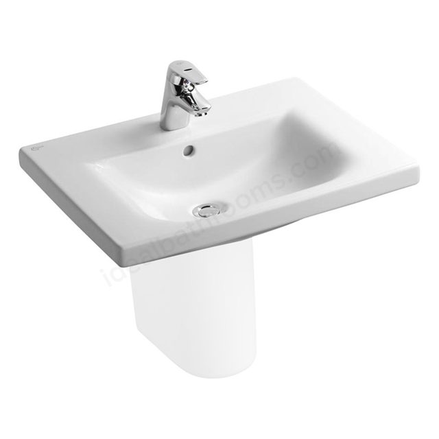 Ideal Standard CONCEPT Vanity Basin with Overflow, 1 Tap Hole, 600mm, White