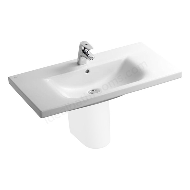 Ideal Standard CONCEPT Vanity Basin with Overflow; 1 Tap Hole; 850mm; White