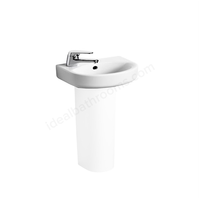 Ideal Standard CONCEPT ARC Handrinse Basin; Left handed 1 Tap Hole; 350mm; White