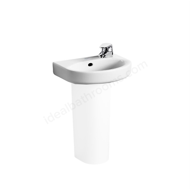 Ideal Standard Concept Arc 350mm Semi Recessed Basin 1 Tap Hole