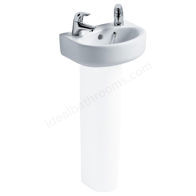 Ideal Standard CONCEPT ARC Handrinse Basin; 2 Tap Hole; 350mm; White