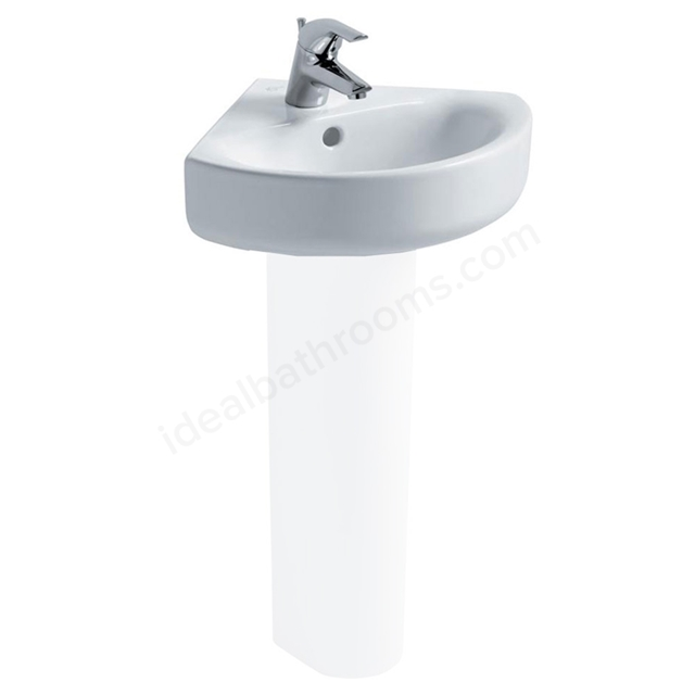 Ideal Standard CONCEPT ARC Corner Basin; 1 Tap Hole; 450mm; White