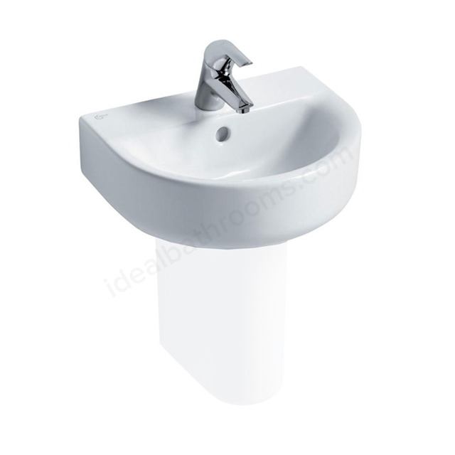 Ideal Standard CONCEPT ARC Handrinse Basin; 1 Tap Hole; 450mm; White