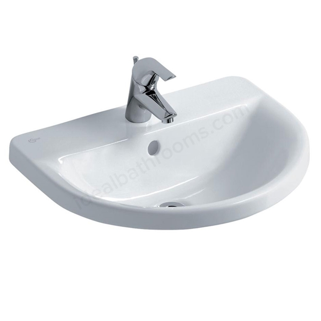 Ideal Standard CONCEPT ARC Countertop Basin; 1 Tap Hole; 550mm; White