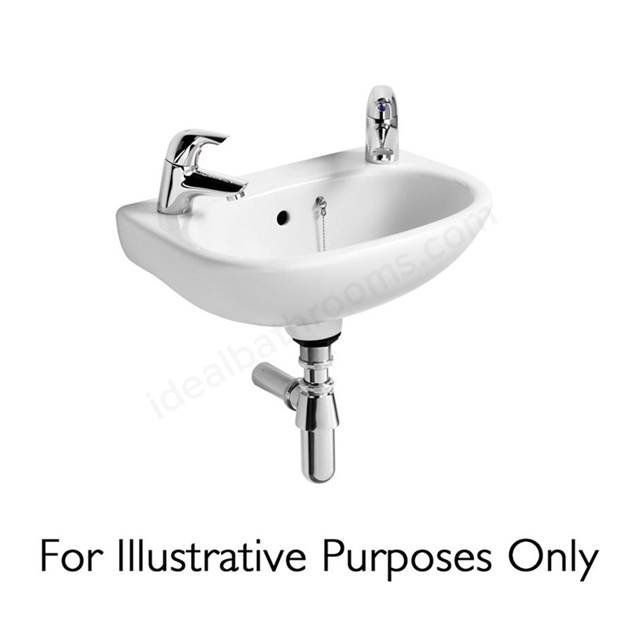 Ideal Standard STUDIO Handrinse Wall Basin; Left Handed 1 Tap Hole; 450mm; White